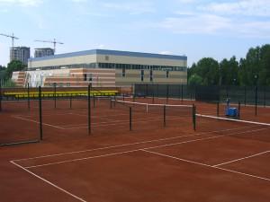 Строительство теннисного корта в Новопеределкино