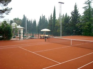 Строительство теннисного корта в санатории «Русь» г.Сочи