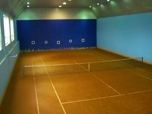 Строительство покрытия теннисит в зале