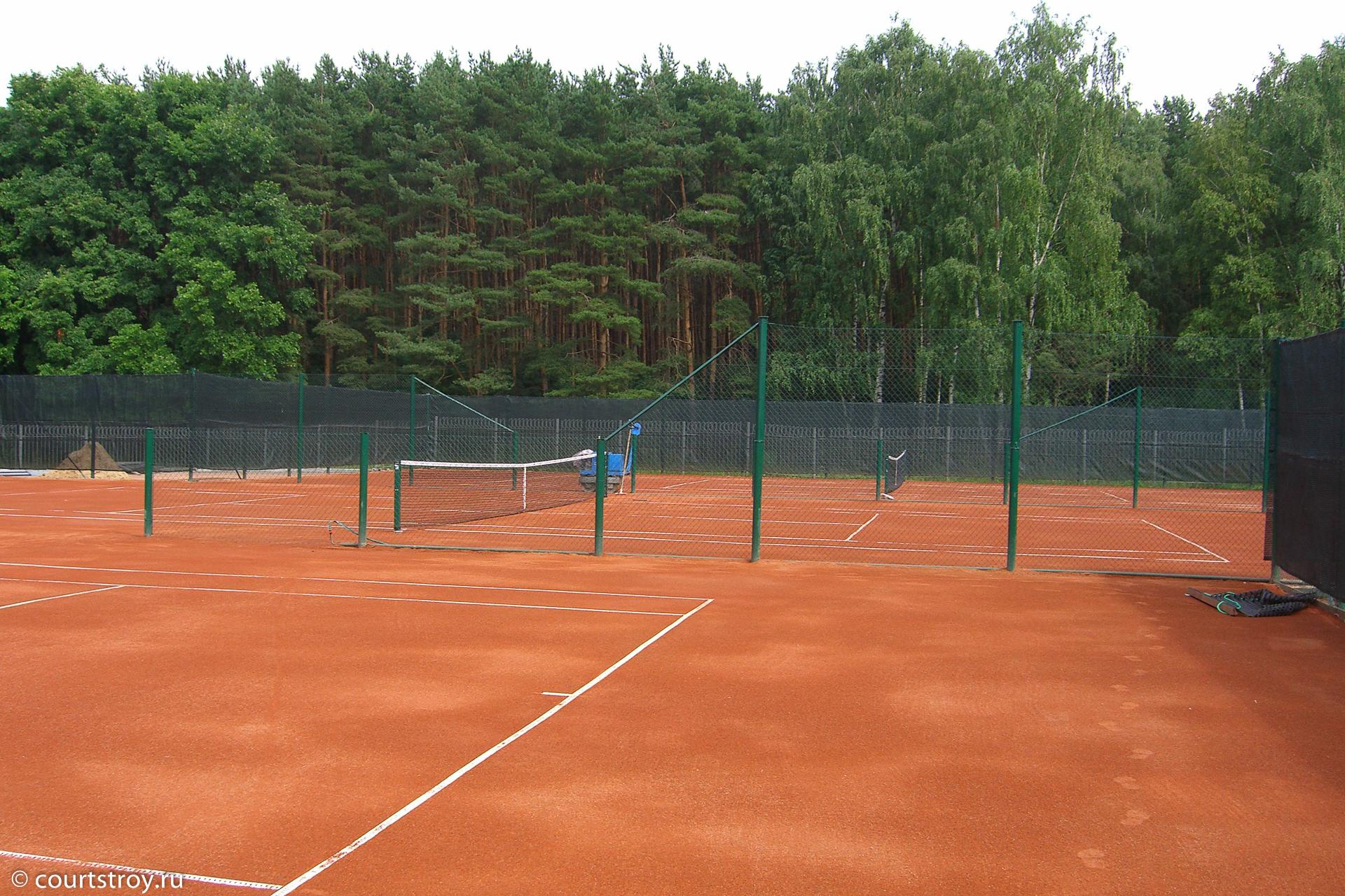 Грунтовый теннисный корт своими руками 12