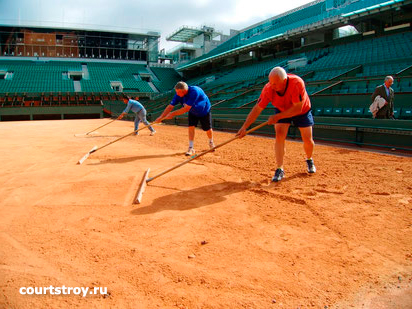 Ремонт теннисного корта. Как правильно восстановить (отремонтировать) корт после зимы. Теннисит.