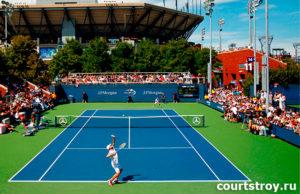 Обслуживание теннисных кортов, облагораживание территории. Искусственные покрытия для площадок и территорий - прямые поставки.